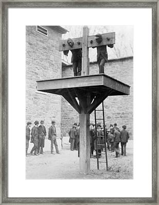 Pillory And Whipping Post, 1880s Framed Print by Science Photo Library