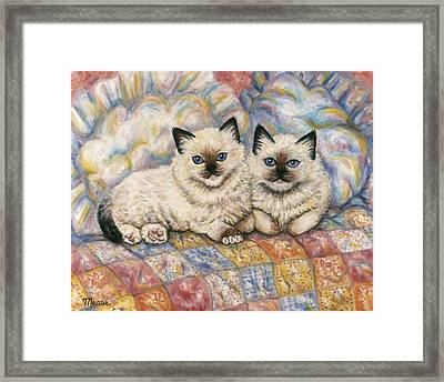 Pillow Mates Framed Print by Linda Mears