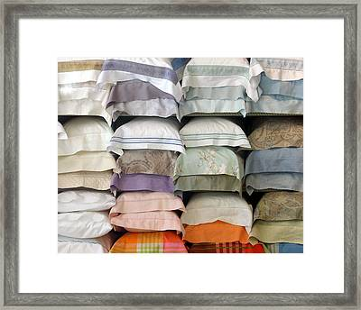 Pillows Framed Print