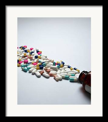 Pill Bottle Framed Prints