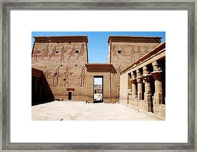 Pilono Templo De Isis Framed Print