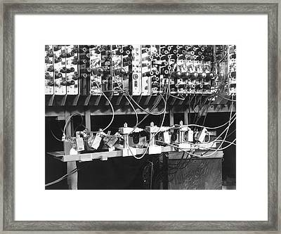 Pilot Ace Computer Components, 1950 Framed Print by Science Photo Library