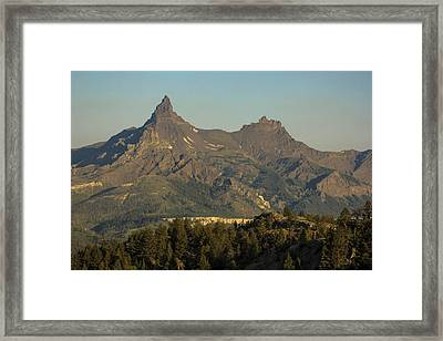 Pilot And Index Peaks Framed Print