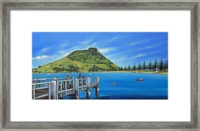 Pilot Bay Mt Maunganui 201214 Framed Print by Selena Boron