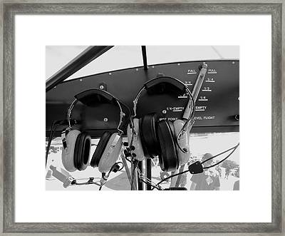 Pilot Commication Systems Framed Print