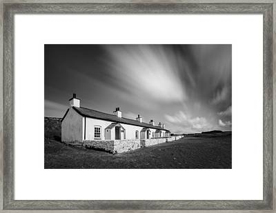 Pilot Cottages Framed Print by Dave Bowman