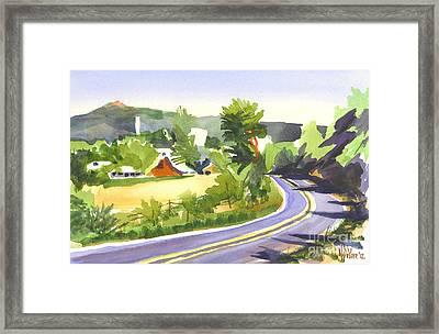 Pilot Knob Mountain Out Jj Framed Print