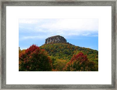 Pilot Mountain From 52 Framed Print