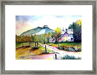 Pilot Mountain Nc Farm Road Sold Framed Print