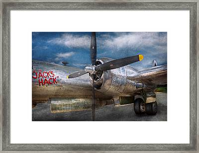 Pilot - Plane - The B-29 Superfortress Framed Print by Mike Savad
