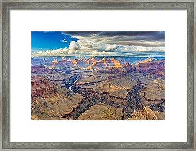 Pima Point Sunset - Grand Canyon National Park Photograph Framed Print by Duane Miller