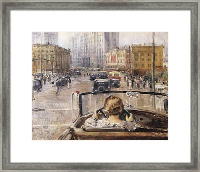 Pimenov, Yuri Ivanovich 1903-1977. The Framed Print by Everett