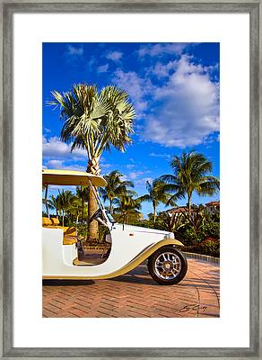 Framed Print featuring the photograph Pimp My Golf Cart by Ed Cilley
