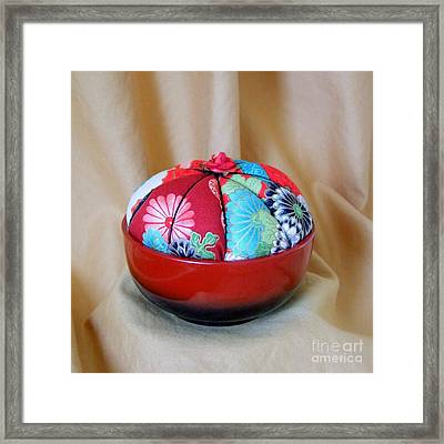 Pin Cushion With Japanese Motif Framed Print