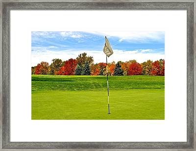 Pin High Framed Print