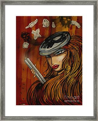 Pin Up - Lowar Mafia In Germany Framed Print by Domenico Condello