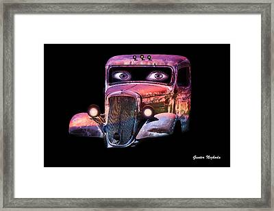 Framed Print featuring the photograph Pin Up Cars - #3 by Gunter Nezhoda