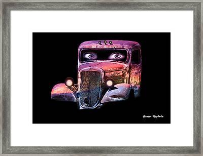 Pin Up Cars - #3 Framed Print by Gunter Nezhoda
