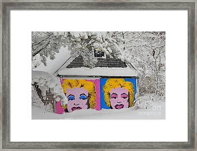 Pin Up Snow Framed Print