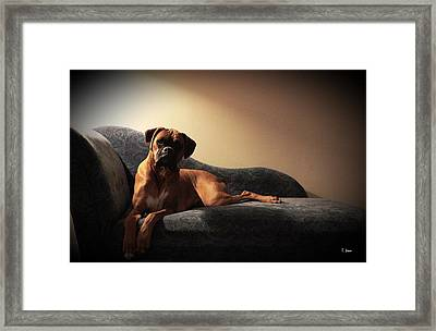 Pin-up Framed Print by Thomas Leon