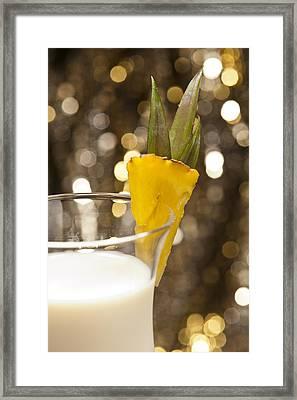 Pina Colada Cocktail Framed Print