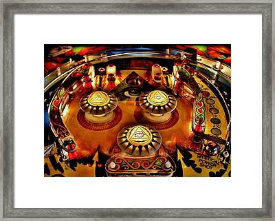 Pinball All Seeing Eye Framed Print by Benjamin Yeager