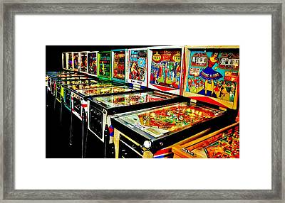 Pinball Alley Framed Print by Benjamin Yeager