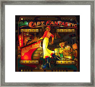 Pinball Machine Capt. Fantastic Framed Print by Terry DeLuco
