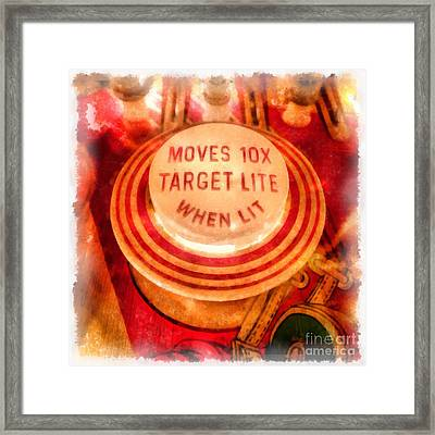 Pinball Machine Watercolor Framed Print by Edward Fielding