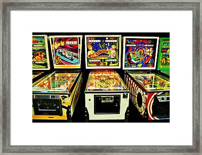Pinball Past Time Framed Print by Benjamin Yeager