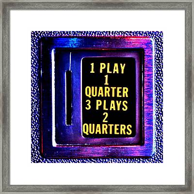 Pinball Pricing Framed Print by Benjamin Yeager