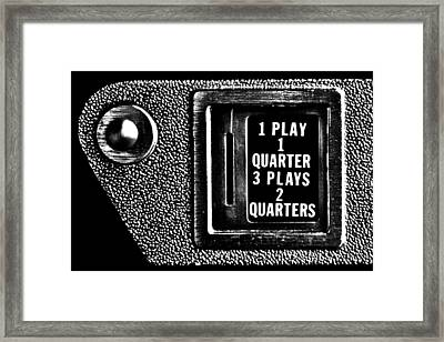 Pinball Special Framed Print by Benjamin Yeager
