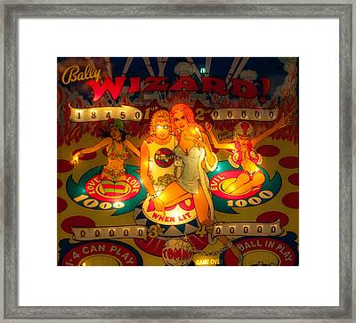 Pinball Wizard Tommy Vintage Framed Print
