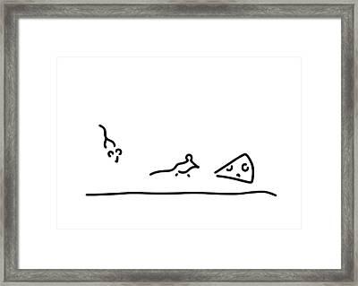 Pinch Cheese Mice Framed Print