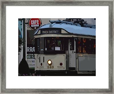 Pinch District Trolley Framed Print by Joe Bledsoe