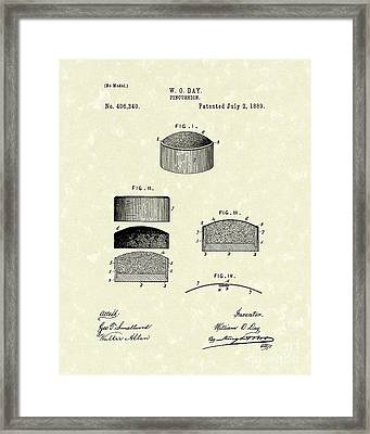 Pincushion 1889 Patent Art Framed Print by Prior Art Design