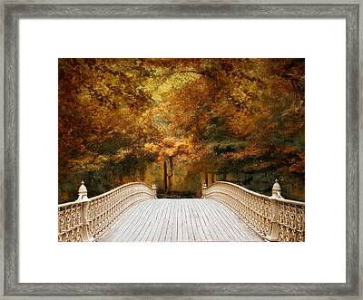 Pine Bank Autumn Framed Print by Jessica Jenney