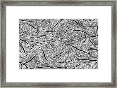 Pine Bark Abstract Framed Print