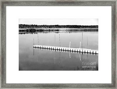 Pine Barrens Dock Framed Print by John Rizzuto