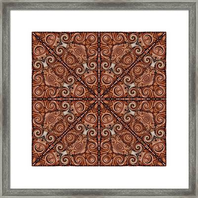 Pine Cone Magic Framed Print