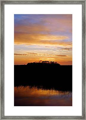 Framed Print featuring the photograph Pine Island Sunset by Daniel Woodrum