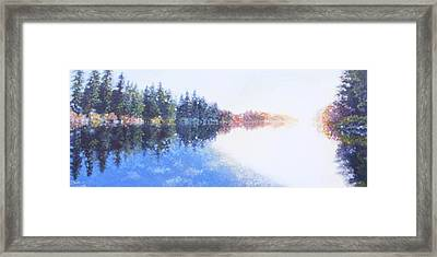 Pine Lake Reflection Framed Print by Charles Smith