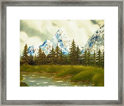 Framed Print featuring the painting Pine Mountain River by The GYPSY And DEBBIE
