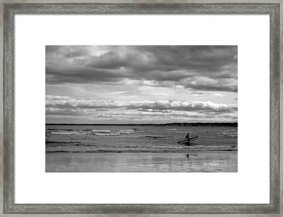 Pine Point Beach Framed Print by Emily Carter