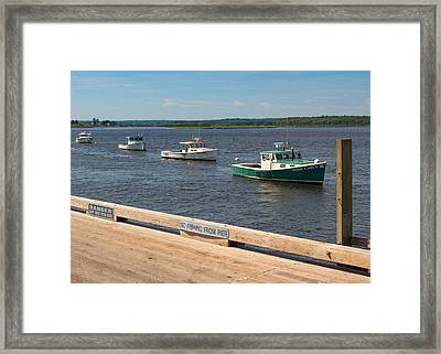 Pine Point Lobster Boat Line Framed Print
