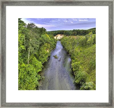 Pine River Framed Print by Twenty Two North Photography