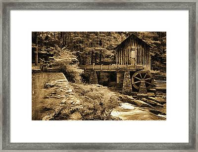 Pine Run Grist Mill Framed Print by Priscilla Burgers