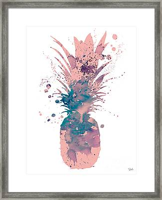 Pineapple 3 Framed Print by Watercolor Girl