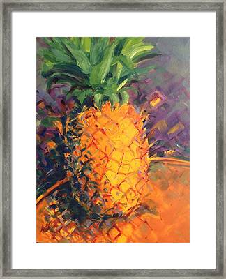 Pineapple Explosion Framed Print