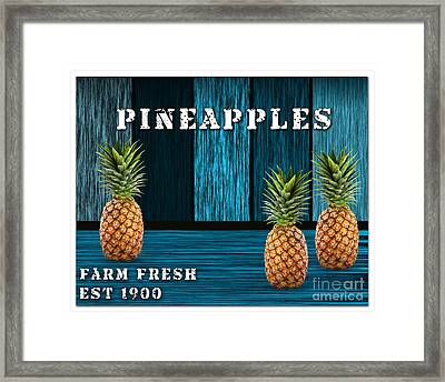 Pineapple Farm Framed Print